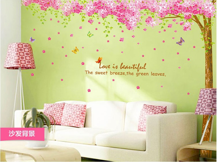 Butterfly Quote Tree Flower Wall Art Decal Removable Nursery Kids ...