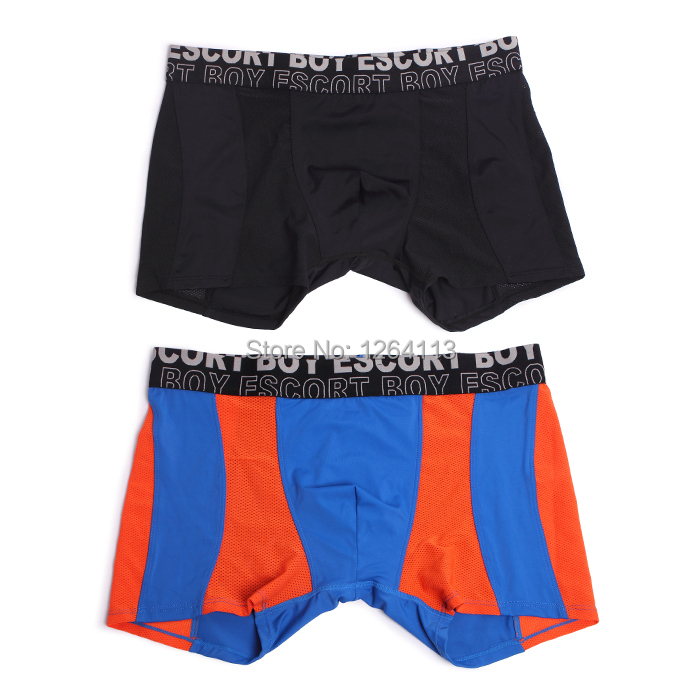 high quality Boxer Shorts Men's Boxers Mens underwear sex super men underwear Soft Material 2 color 4 styles trunks