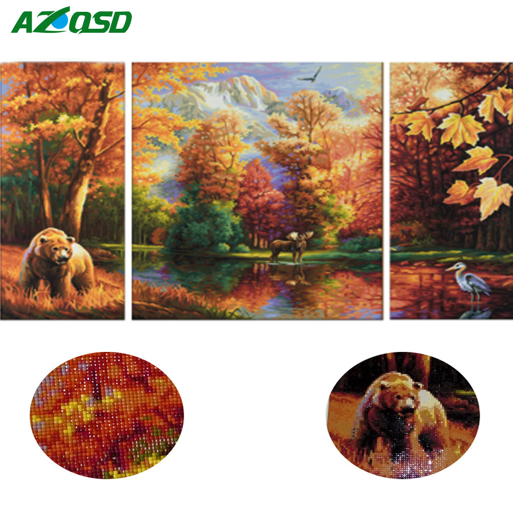 AZQSD DIY 5D Diamond Embroidery Forests Scenic Pictures of Rhinestones Needle Full Square Scenery Diamond Painting Home DecorAZQSD DIY 5D Diamond Embroidery Forests Scenic Pictures of Rhinestones Needle Full Square Scenery Diamond Painting Home Decor