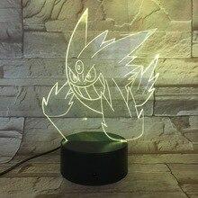Pokemon Go Gengar Figure Childrens Nightlight LED Touch Sensor Bedroom Decorative Lamp Holiday Gift Night USB