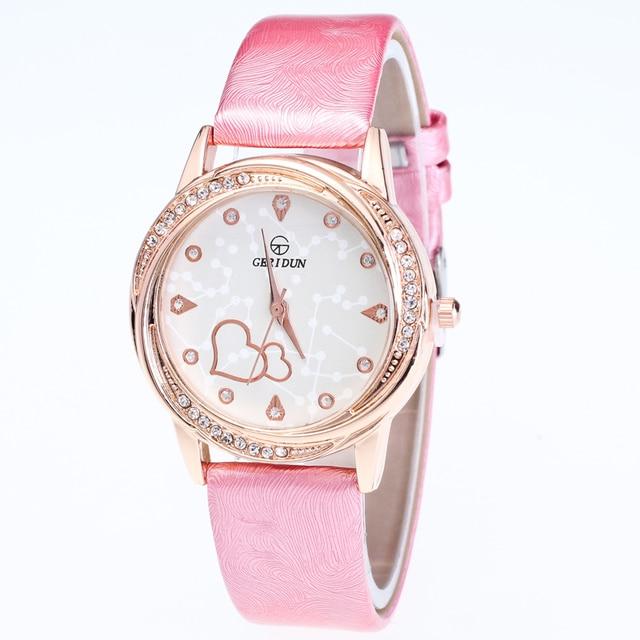 33f55c154dafb New Arrival Lowest Price Geridun Heart Watch Women Rose Gold Fashion  Rhinestone Bracelet Women Watches Ladies Quartz Wristwatch