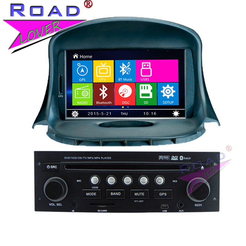 TOPNAVI Wince 6.0 2Din 7Inch Car Multimedia DVD Player Auto Radio For Peugeot 206 Stereo GPS Navigation TFT Magnitol MP3