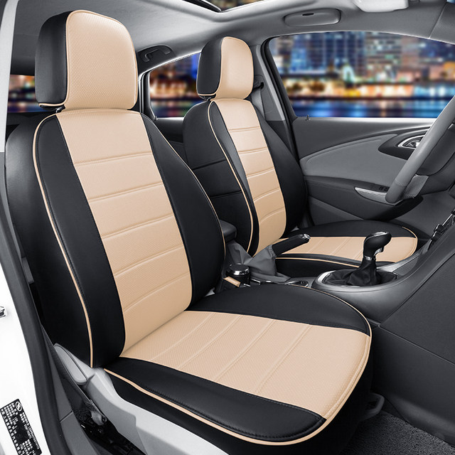Online Shop CARTAILOR Artificial Leather Cover Seats Custom Fit for ...