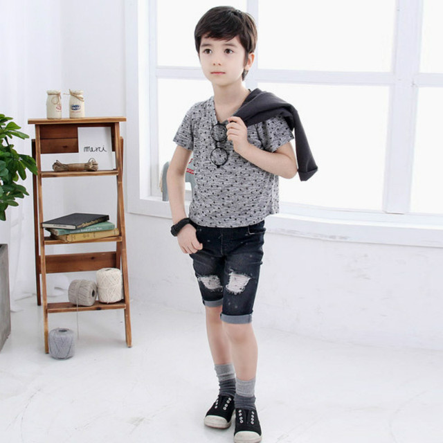 Boys Clothing Short Sleeve Summer Children Star pattern casual wear  Boys Clothes T-Shirts