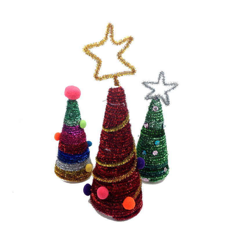 NEW CHRISTMAS CRAFTS 30cm PIPECLEANERS XMAS 50 TINSEL PIPE CLEANERS