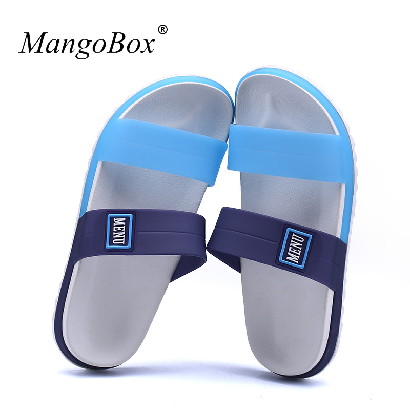 Sandálias planas Para Homens Baratos Sapatos De Praia De Borracha - Sapatos masculinos - Foto 3