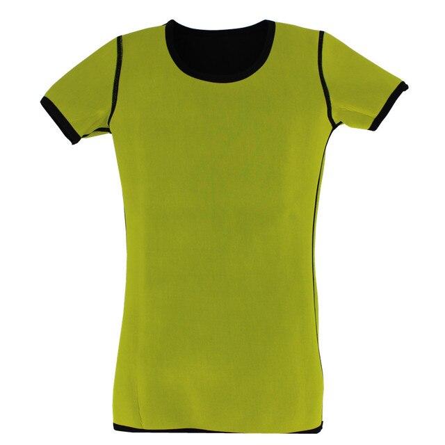 Waist Trainer Belt Men Body Shapers T-shirt Neoprene Control Sweat Sauna Fitness Slimming Short Sleeve Corsets Stretch Shapewear 2