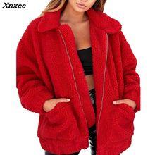 Xnxee Elegant Faux Fur Coat Women 2018  Autumn Winter Warm Soft Zipper Jacket Female Plush Overcoat Casual Outerwear