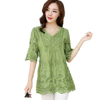 Vintage Dress 2017 New Summer Casual Retro Loose Dress Tunic Vestido Plus Size Women Short Sleeve