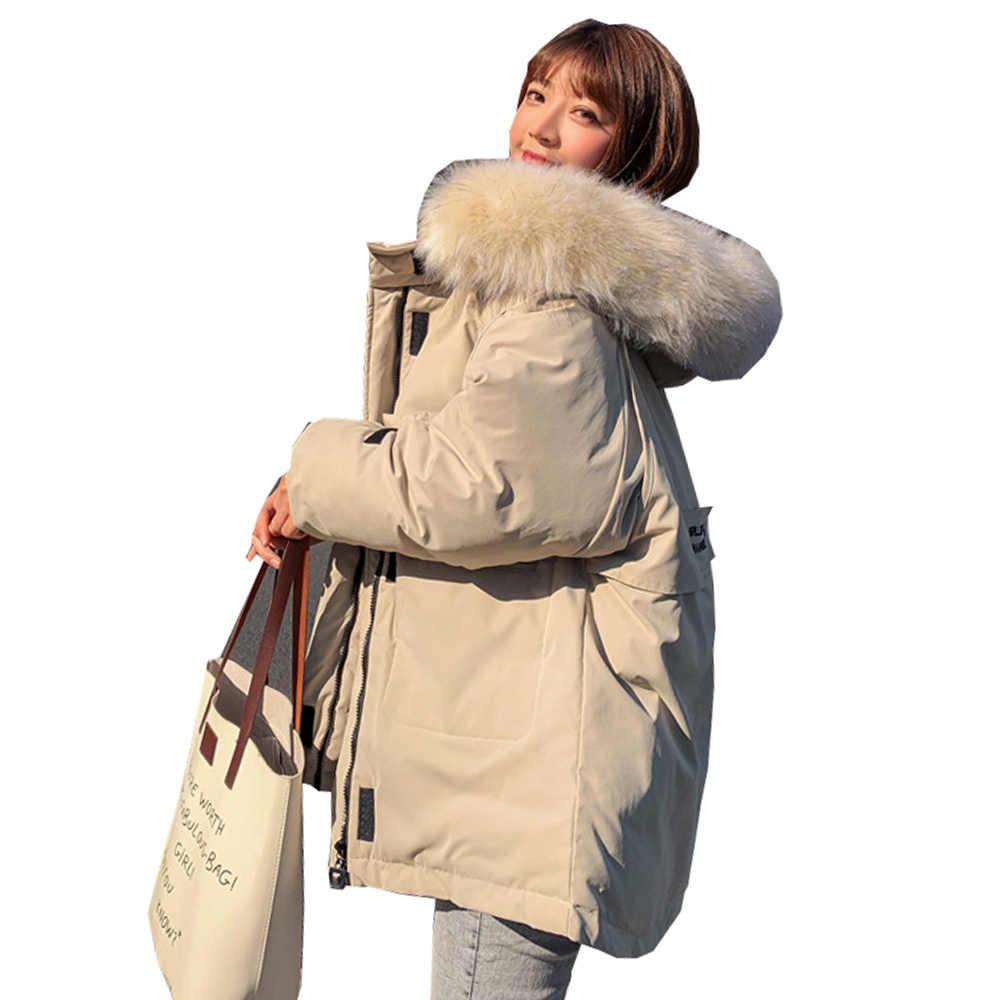 ผู้หญิงฤดูหนาวเสื้อแจ็คเก็ต Parkas ใหม่ 2019 หนาหลวมๆผ้าฝ้าย 1813