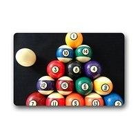 Memory Home Custom Machine Washable Billiard Pool Balls Door Outdoor Mats Doormat Bathroom Kitchen Decor Rug