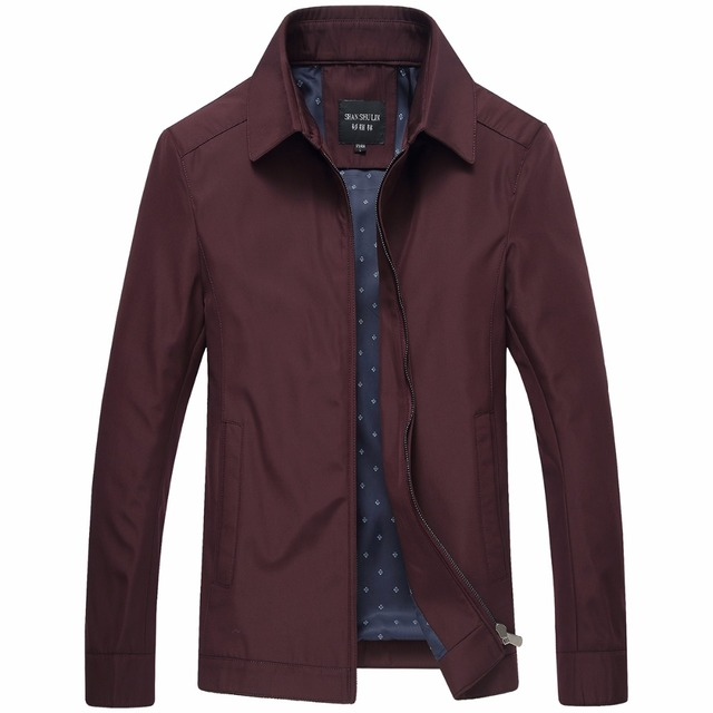 Spring Summer Jacket Men 2018 Middle Aged Business Casual Thin Black Red Stand Collar Windproof Zipper Father Varsity Jacket W71 3