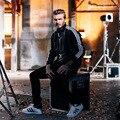 2017 restoring ancient ways is popular logo Striped collar fur leather jacket tide male arm