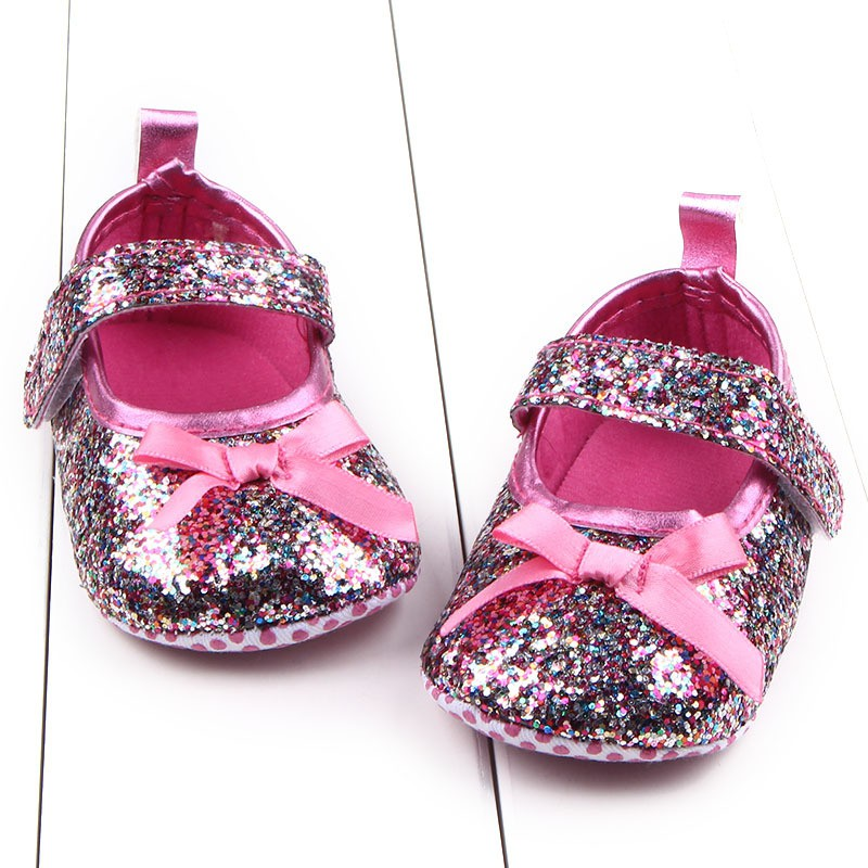 e8d09cda1ee Newborn Soft Baby Girl Princess Crib Shoes Toddler Sole Anti Slip Shoes Hot