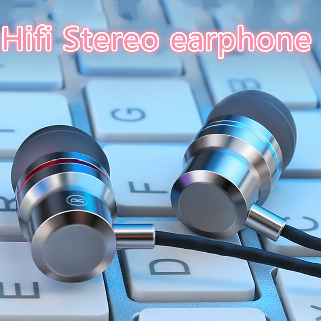 Earphones Earbuds Headphones with 3.5MM Wired HiFi Stereo Bass Headphones with Microphone for xiaomi huawei samsung iphone