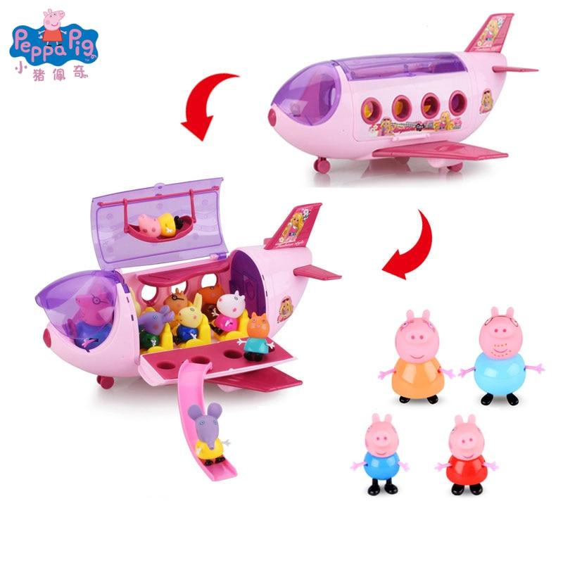 Peppa Pig Luxury Picnic Car George Friend School Desk Set Toy Piggy Teacher Action Figure Model Family Set Children Toy Gifts