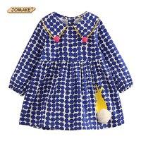 JOMAKE Girls Dress 2018 New Spring Autumn Cute Rabbit Long Sleeve Kids Dot Princess Dresses For
