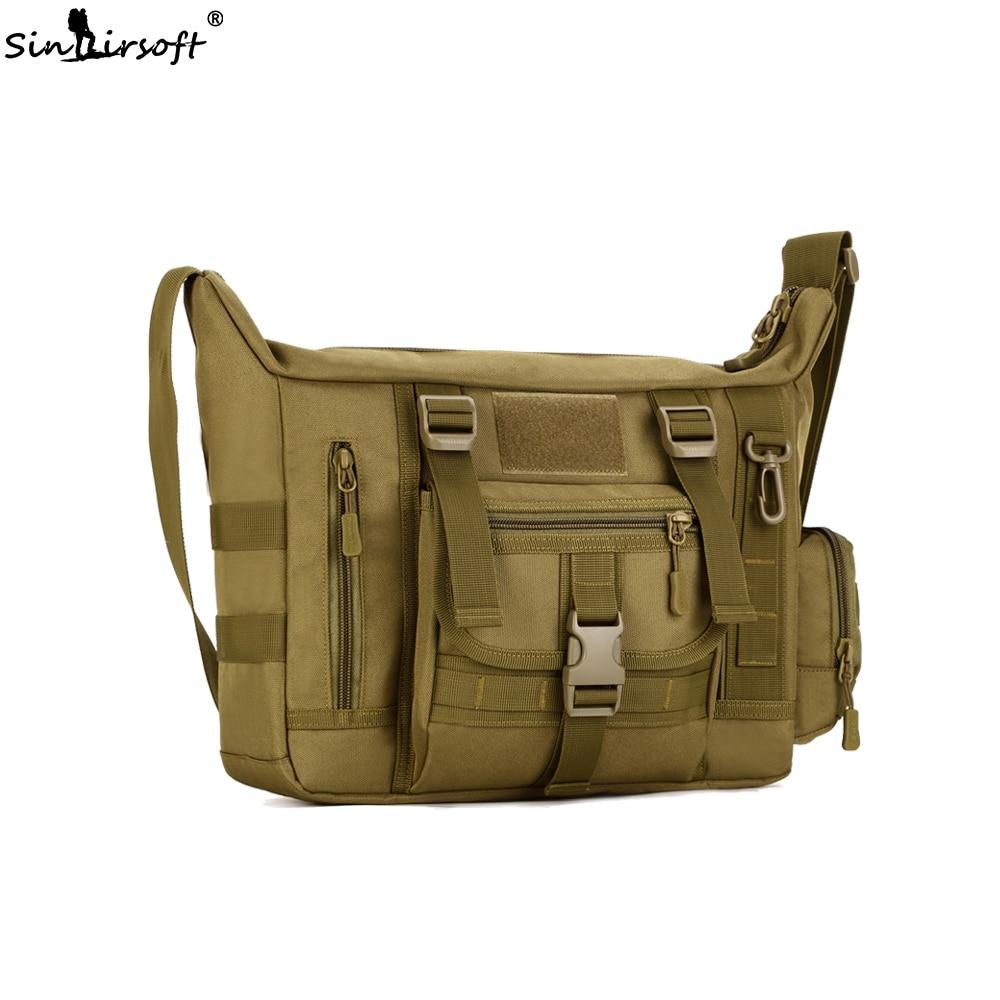 SINAIRSOFT Men's Over Shoulder Bag Outdoor Large 14 Inch Laptop Handle Men Bussiness Bags Shoulder Sport Backpack A4 Document