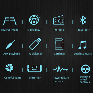 """Image 2 - 7 """"12 V HD Dello Schermo di Bluetooth Auto MP5 Lettore Video Audio Radio FM Macchina Fotografica di Rearview Del Telefono Collegare Auto Displayer con la Luce Colorata"""