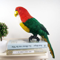 large 43x22cm simulation green parrot bird foam&feathers parrot handicraft,cosplay ,garden decoration toy gift a0108