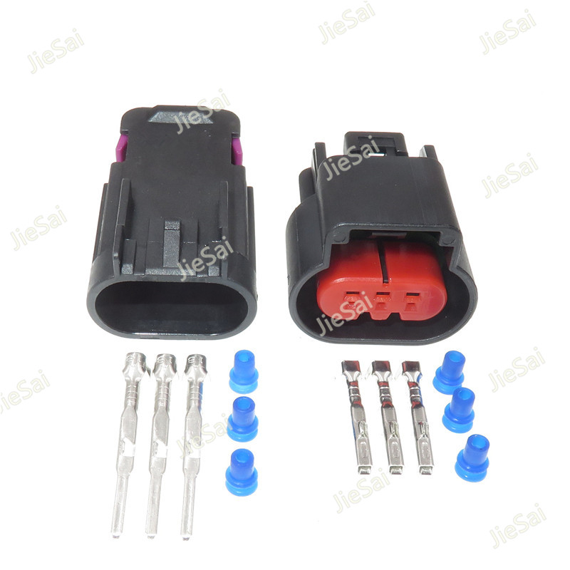 5 Sets 3 Pin 13519047 15326813 Auto Wiring Harness Oil Pump Plug Connector Waterproof Female Male Connectors