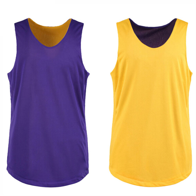 Quick Dry Breathable Double Sided Reversible Basketball Jersey