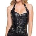 8 Sprial Aço Desossado Gothic Lace Up Corset Sexy Lingerie Emagrecimento Cintura Instrutor das Mulheres Espartilhos E Corpetes Top Outwear TYQ