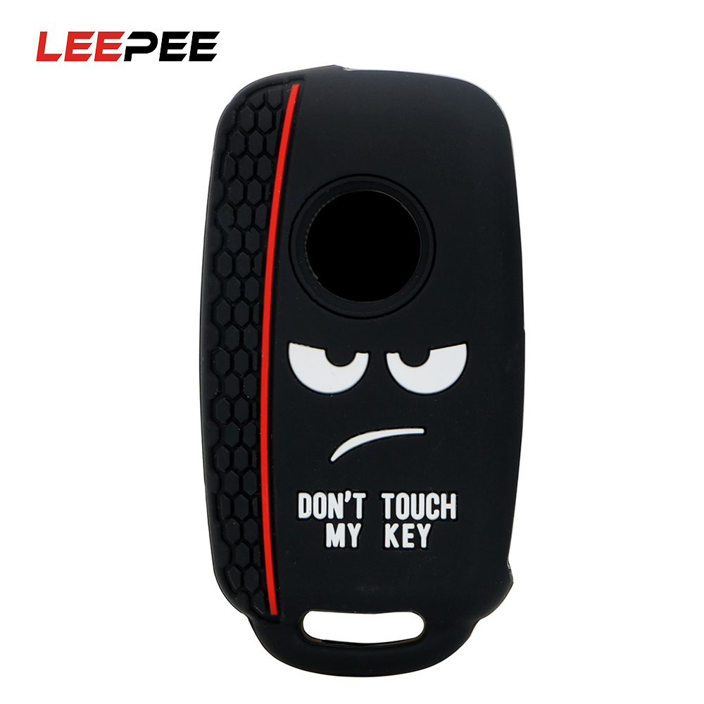 LEEPEE 3 Buttons Car Key Protector For Volkswagen VW Polo Bora Tiguan Auto Accessories Replacement Car Key Case Shell