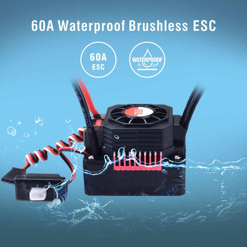 OVERTREFFEN HOBBY Waterdicht 3660 2600KV Borstelloze Motor + 60A ESC 2-3 S Set voor 1/10 RC Auto Vrachtwagen c614