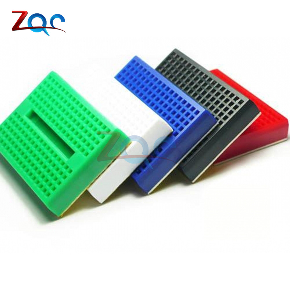 5pcs SYB-170 Mini Solderless Prototype Breadboard 170 Tie-points for Arduino UNO ATMEGA PIC Black Green White Blue Red
