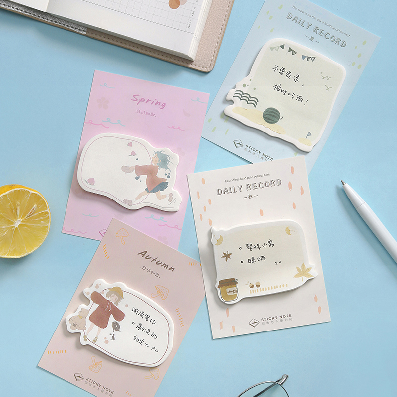 Summer Fairy Student Memo Pad Planner Sticky Notes Paper Sticker Notepad Kawaii Stationery Pepalaria Office School Supplies