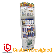 Skin care products paper display shelf