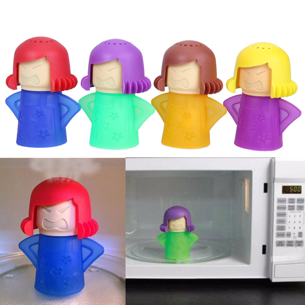 Angry Mama Microwave Cleaner Oven Steam Plastic <font><b>Cleaning</b></font> Tools Vinegar and Water Easy Cleans Household Kitchen Tools