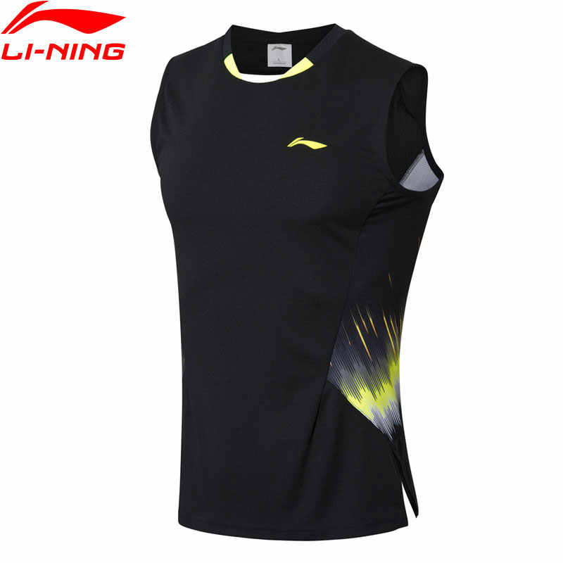 Li-Ning Men's Badminton Competition Vest Comfort LiNing Breathable Sleeveless T-Shirts AVSN293 MBS073