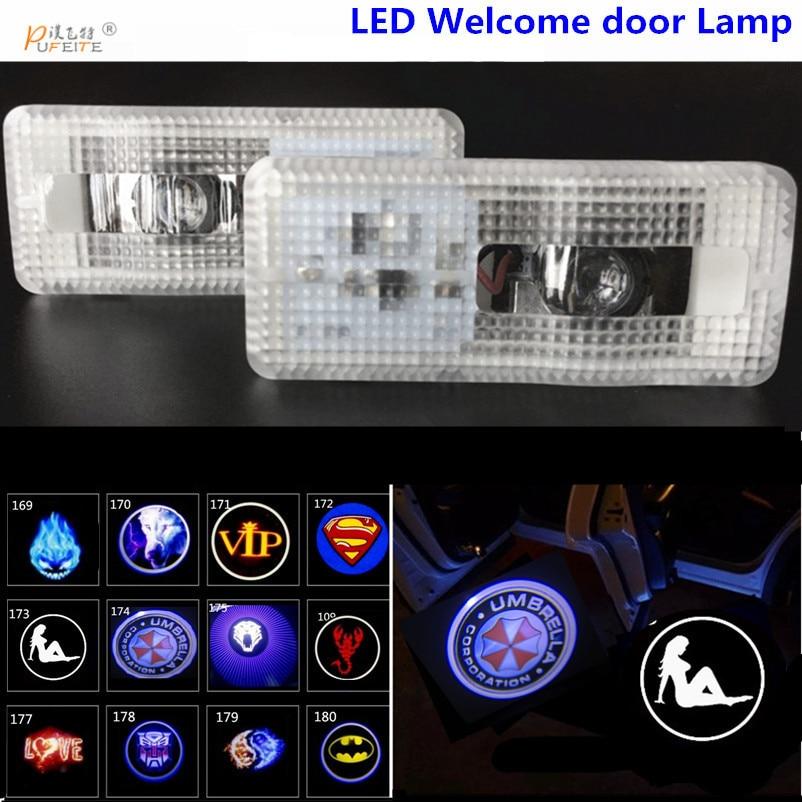 2x LED car door light For Citroen DS logo car styling Projector Door