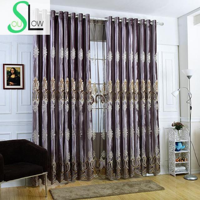 Violet Italien Kaschmir Laser Bestickt Vorhänge Wohnzimmer Cortinas Für  Vorhang Moderne Schlafzimmer Luxus Stoff Voile Fenster