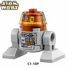 SingleSale STAR WAR Rebels 'Chopper' C1-10P Roboter Droid sw477 BB8 C3PO minifig Model Building Blocks Kids Learning Toys(China)