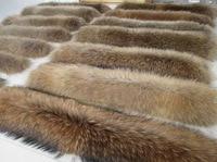 Los fabricantes que venden el cuello de piel de mapache cuello de piel de mapache sombrero de piel integral superior del manguito grande punto de encargo al por mayor