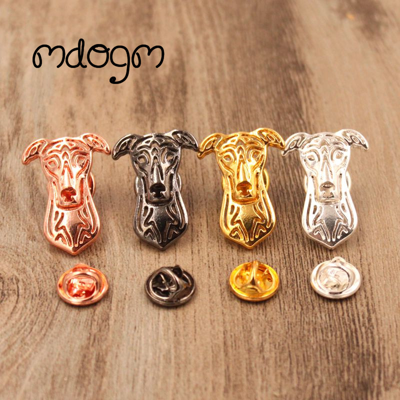 Mdogm 2018 Greyhound Dog Animal Brooches And Pins Suit Cute Funny Metal Small Father Birthday Fahion Gift For Male Men B135