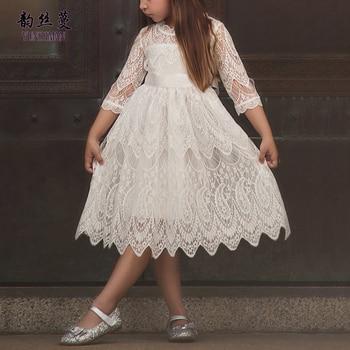 5141255d29e 2019 весеннее детское кружевное платье для девочек 2