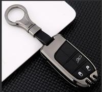 LLavero de aleación Galvanizada de coche para Jeep Grand Cherokee Compass Patriot Renegade para Dodge Challenger Journey Fiat Carcasa de llave para coche Automóviles y motocicletas -