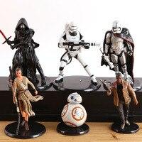 Star Wars Figure 6pcs Sets Stormtrooper Clone Trooper Black Knight Darth Vader Star Wars Action Figure