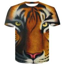 2019 tshirt men Fashion 3d Animal Tiger Funny short sleeve Summer  Hip-hop Tee shirt Male Tops t homme man big size 4XL