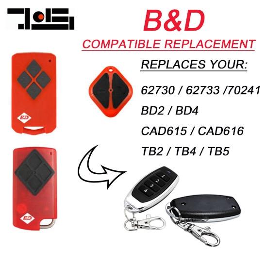 500pcs B&D PTX5 PTX-5 Tritran Tri Tran Garage Door BND TB5 BD4 BD2 compatible remote free shipping ata ptx5 tricode replacement remote 1234button ptx 5 radio contol remote 433 92mhz 434 37mhz 433 37mhz