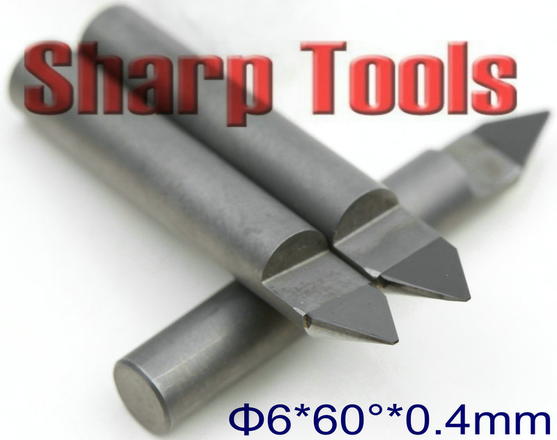 6*0.4mm*60Degree Tile Granite Stone Carving Tools CNC V Bits Engraving End Mills, PCD Tool Diamond Mill Cutter CNC Router Bits pcd cnc carving tools diamond router bits stone engraving bits