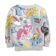 New 2016 Girls Hoodies Clothes Children's Thick Sweatshirts Baby Cute Print Pattern Casual Kids Plus Cotton Hoodies Age 2-7Y