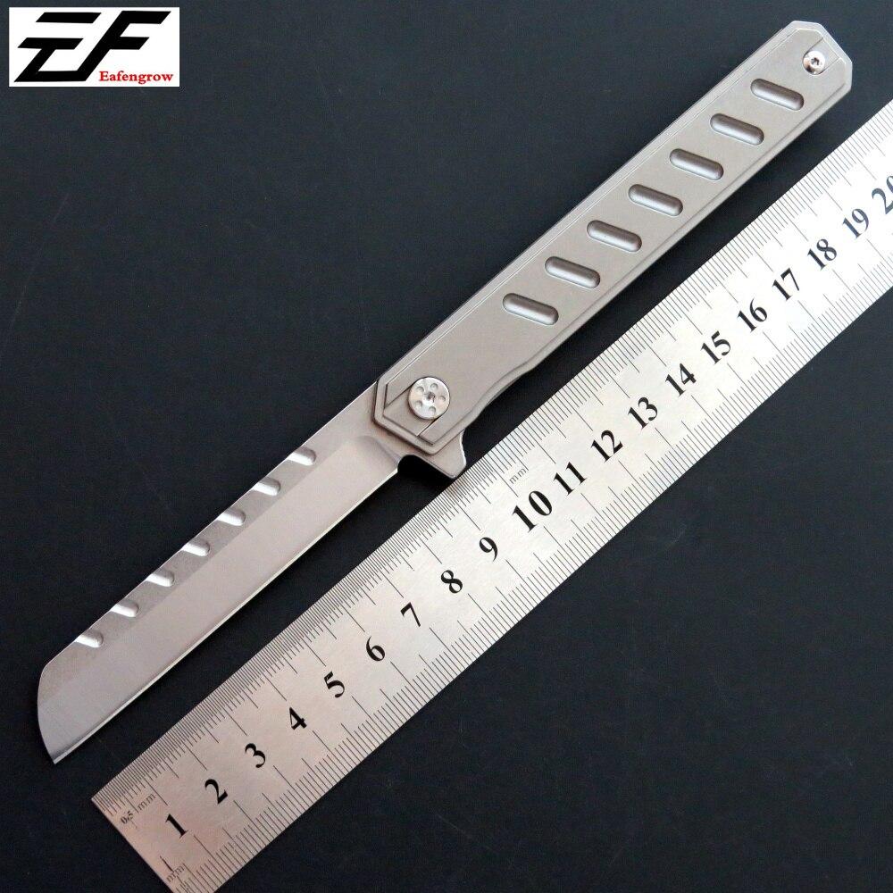 Eafengrow C088 Folding Knife D2 Steel Blade TC4 Titanium Alloy Handle knife Camping Outdoor EDC tool pocket Knives цена