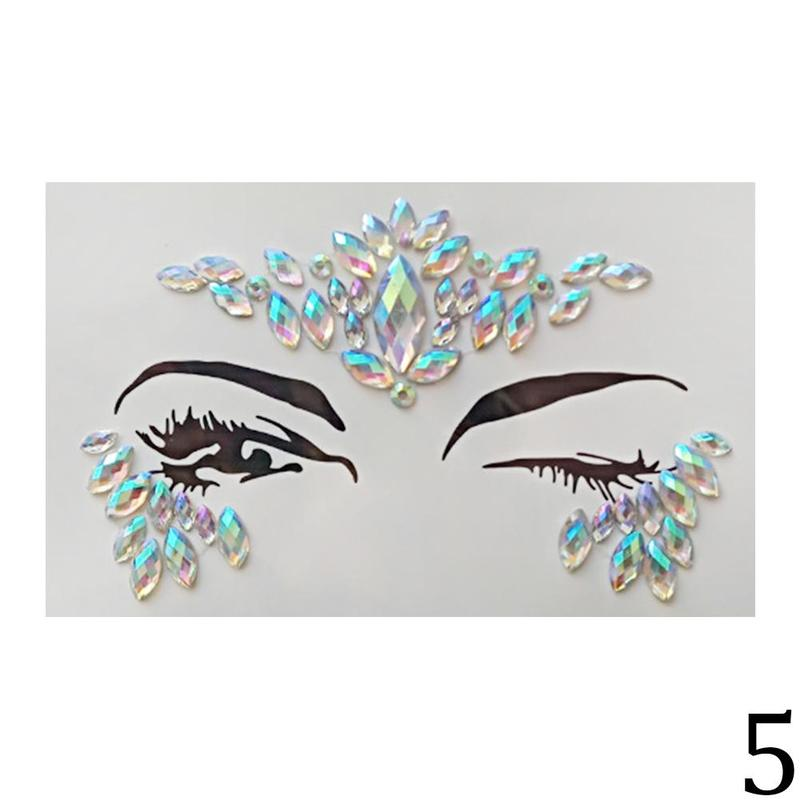 Jewels Festival Party Body Glitter 3D Stickers Adhesive Face Gems Rhinestone Temporary Tattoo The Flash Temporary Tattoos Sticke переводные тату essence get your glitter on tattoo you body tattoos 02 цвет 02 freckle face variant hex name e4ad80
