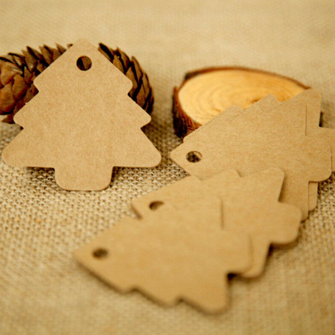 Diy Kraft Paper Christmas Tree Tags