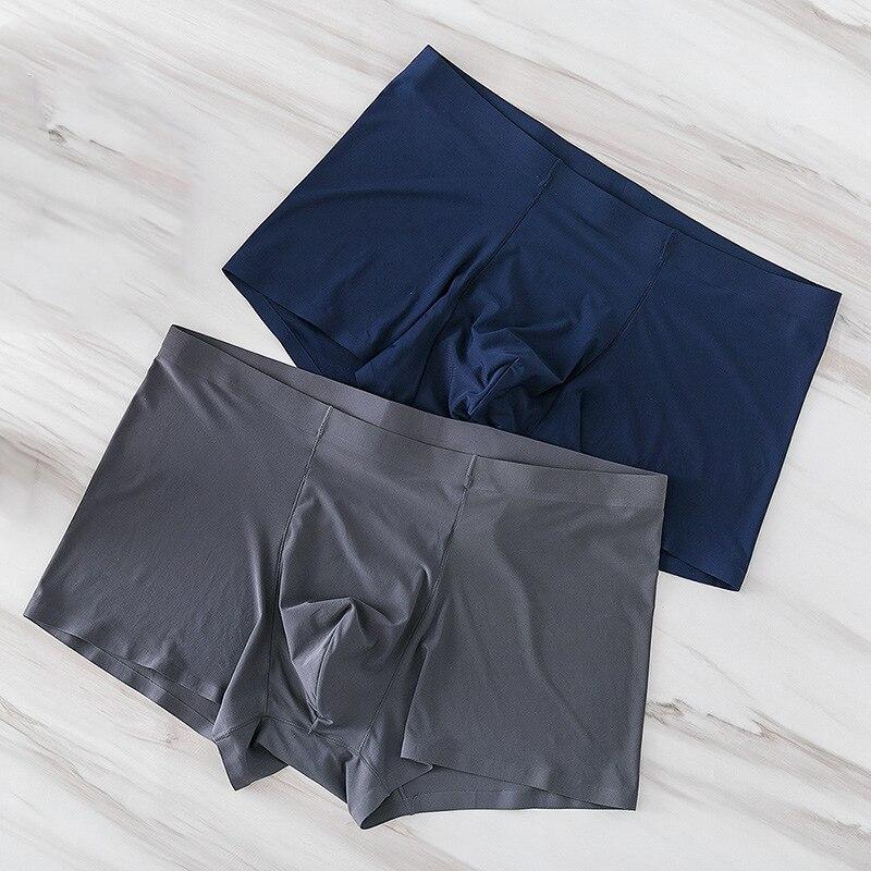 Nylon Men Boxers Seamless Silk Antibacterial Boxers Underwear Spandex Plus Size Male Panties Shorts Slips XXXL